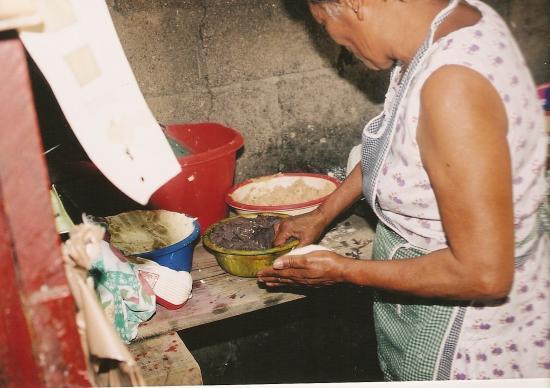 préparation des pupusas