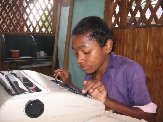 Apprentissage de l'écriture à la machine